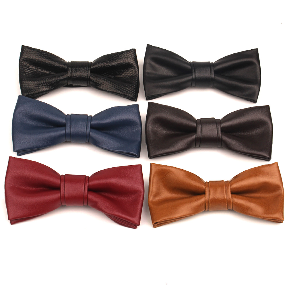 PU Leather Men Bowtie Classic Bow Tie For Men Women Bowknot Casual Boys Bow Ties Cravats Bow Ties For Wedding Party Male Tie