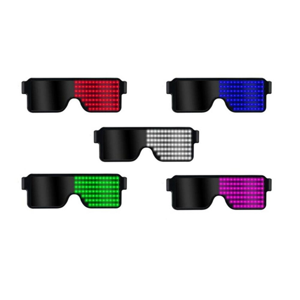 HiMISS  Neon LED Glasses Dynamic Glowing Light Novelty Festival Party Sunglasses led Decoration