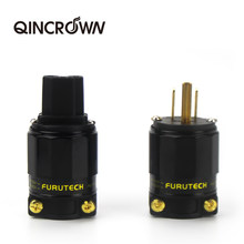 HIFI FI-11M-N1 / FI-11-N1 (G) audio Power Stecker 24k Vergoldet IEC Stecker Stecker 1 Set / 2 pc 15 a / 125 v hifi MATIHUR