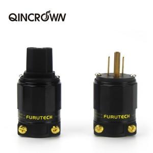 HIFI FI-11M-N1 / FI-11-N1 (G) Audio Power Plug 24k Gold Plated IEC Connector Plug 1 Set / 2 pc 15 a / 125 v Hifi MATIHUR