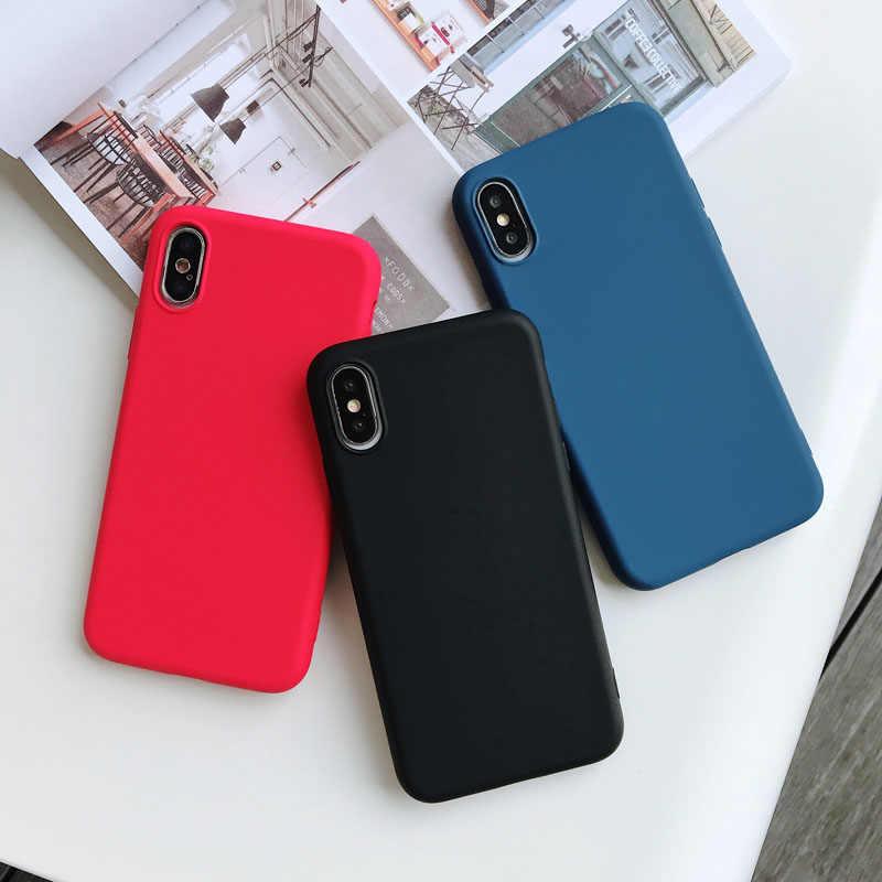 لينة سيليكون الجلد ودية الهاتف حقيبة لهاتف أي فون XS ماكس XR X فون 8 7 8 زائد 7 زائد فون 6 S 6 S 6 زائد غطاء شفاف TPU