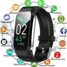 Fitness Armband Körper Thermometer IP67 Wasserdichte Smart Armband Fitness Tracker Heart Rate Monitor Smart Band Uhr Männer Frauen