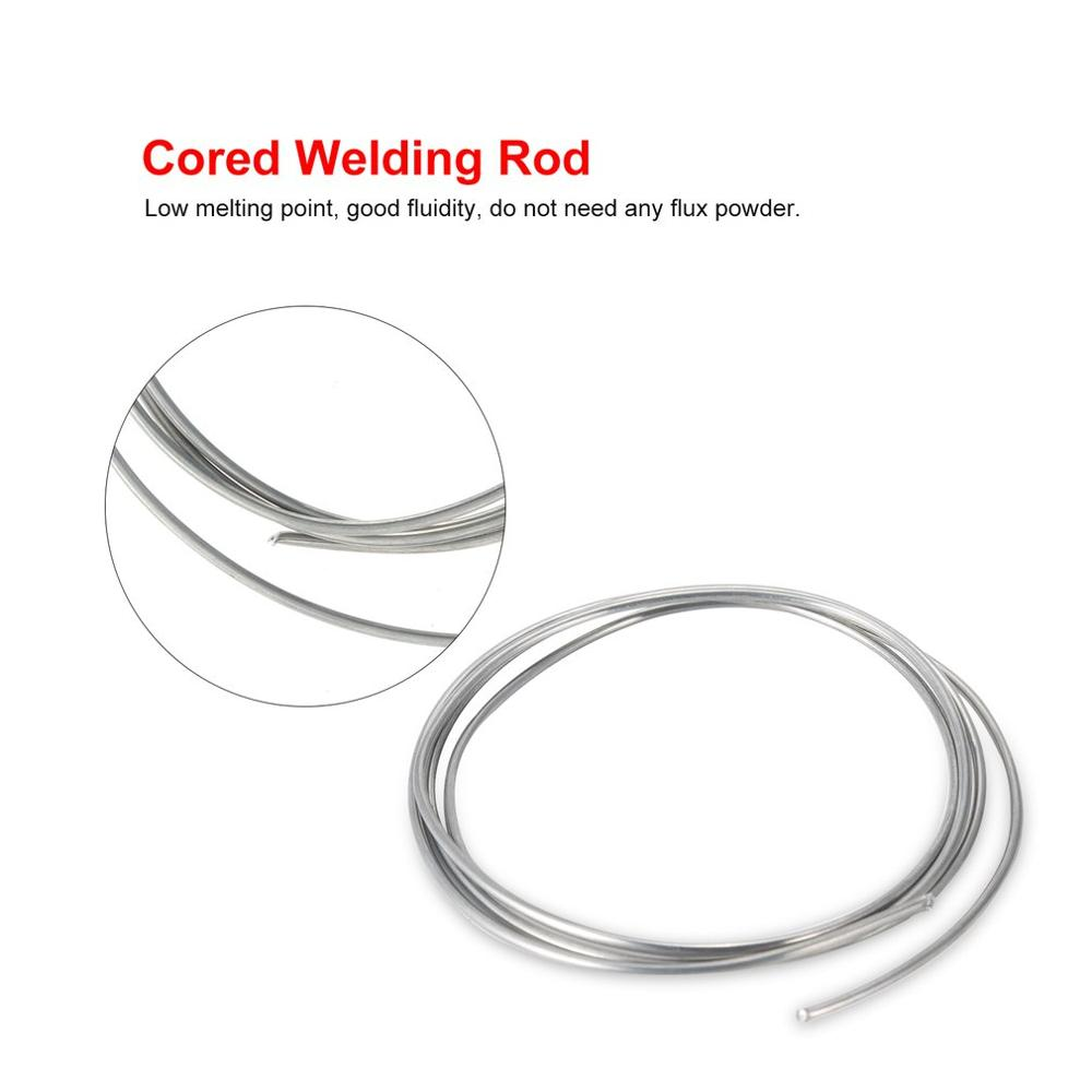 <font><b>2mm</b></font> 1m Welding <font><b>Rod</b></font> Copper Aluminum Low Temperature Flux Cored Wire Metal Brazing Stick Soldering Tool Electrode No Need Solder image