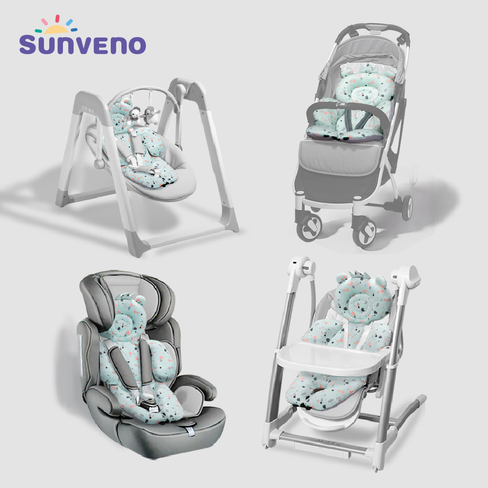 Sunveno Baby Stroller Accessories Baby Stroller Cushion Pad Breathable Stroller Car High Chair Seat Cushion Liner Mat Cover