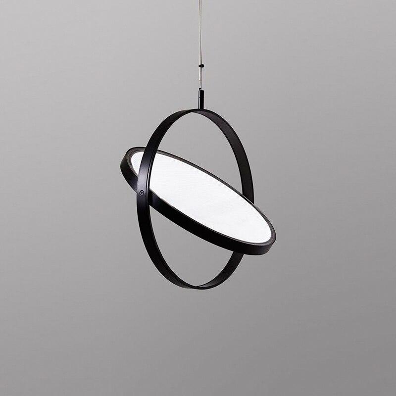moderna lampada pingente ferro acrilico preto 04