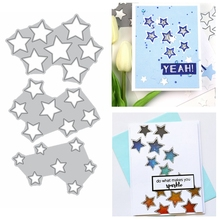 Twinkle Stars Cover Metal Cutting Dies Stencil For DIY Scrapbooking Paper Cards Crafts Making Template Dies 2020 Hot Sale merry christmas words flower stripe hot sell hot foil plates for scrapbooking diy paper cards crafts decoration new 2019
