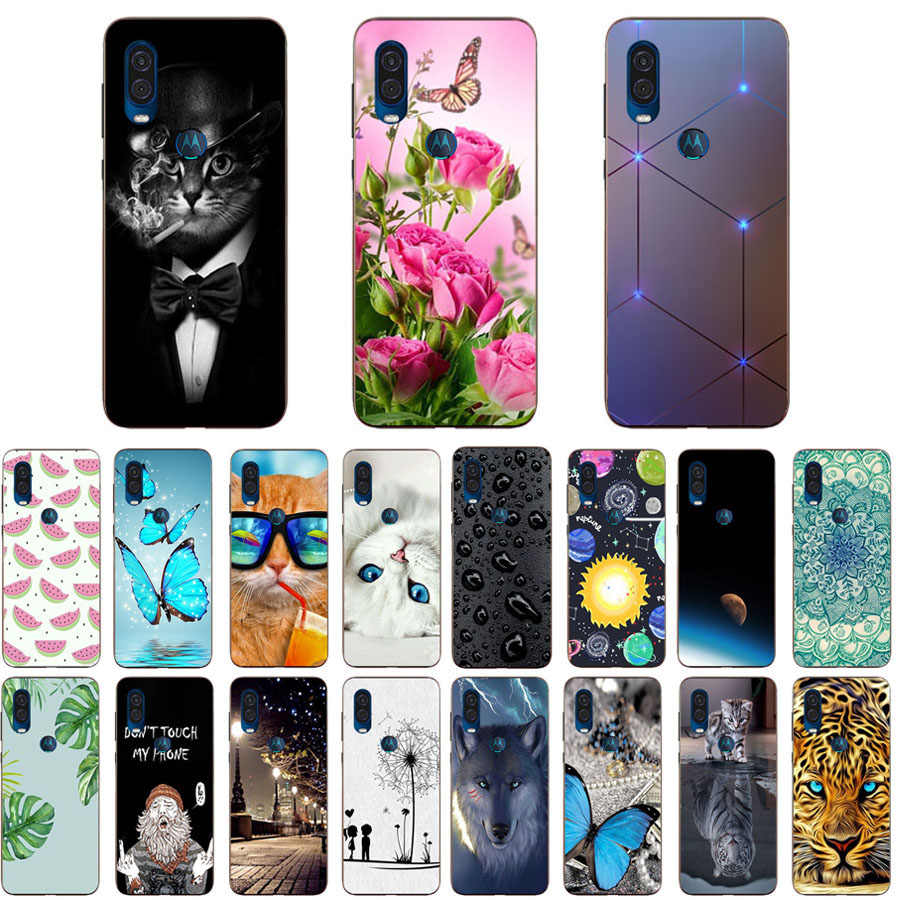 For MOTO One Vision XT1970 Case Luxury TPU Silicone Cases for MOTO One Power Phone Back Cover for Moto P40 Funda Coque