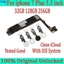 32ギガバイト128ギガバイト256ギガバイトiphone 7プラスマザーボード/なしタッチid、オリジナルロック解除マザーボードiphone 7プラスメインボード