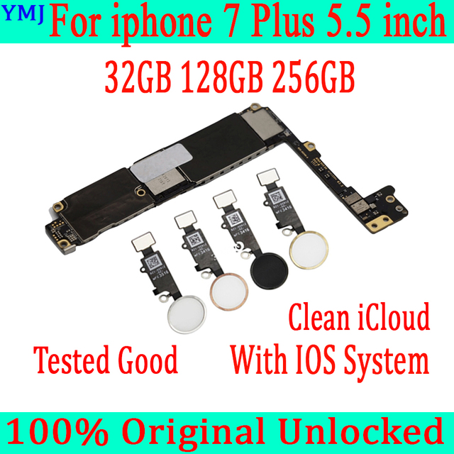 32GB 128GB 256GB for iphone 7 Plus Motherboard with/without Touch ID,Original unlocked Motherboard for iphone 7 Plus Mainboard