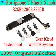 32GB 128GB 256GB iphone 7 için artı anakart ile/olmadan dokunmatik kimlik, orijinal unlocked anakart iphone 7 için artı anakart