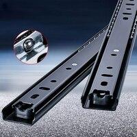 "Rvs Lade Slides10 "" 20"" Soft Close Lade Track Rail Sliding Drie Sectie Kabinet Slides Meubels hardware|Glijbanen|   -"