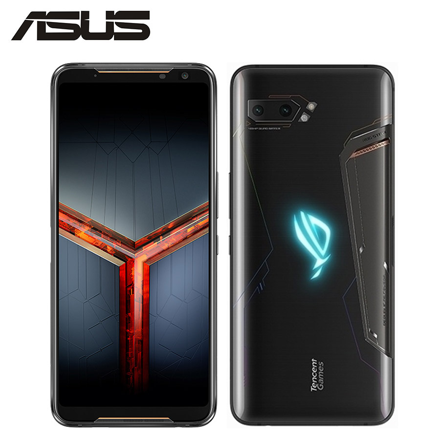 "NEW Asus ROG Phone II ZS660KL Mobile Phone 8GB 128GB Snapdragon855 Octa Core 6.59""1080x2340P 6000mAh 48MP NFC Android 9.0 ROG 2-in Cellphones from Cellphones & Telecommunications    1"