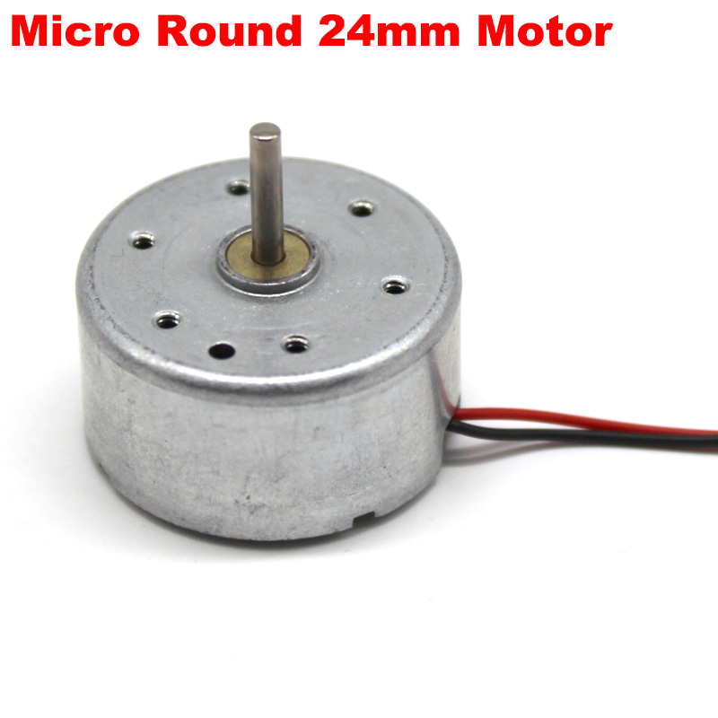 Micro RF-300CA RC-300 DC <font><b>5V</b></font> 3V-6V 13000RPM Mini 24mm Round Electric <font><b>Motor</b></font> 2mm Long Shaft DIY Solar test <font><b>Fan</b></font> image