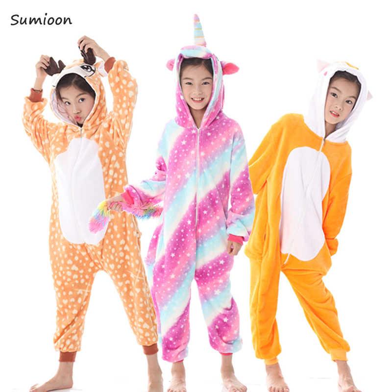 Kigurumi פיג 'מה Unicorn לילדים תינוק בנות של פיג' מה בני הלבשת בעלי החיים אריה צבי Licorne סרבל תינוקות ילדים תלבושות סרבל