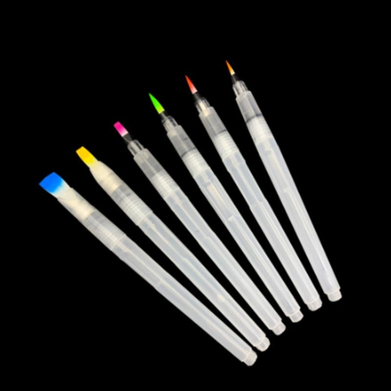 3pc pincel de tinta macia agua cor escova conjunto recarregavel aquarela pincel caneta tinta para iniciante