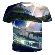 Graphic T-Shirt Clothing O-Neck Streetwear Casual Summer 3D Boy Fashion Tops Starry Sky