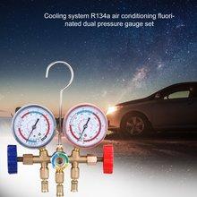 Refrigerant Manifold Gauge Set Air Conditioning Tools with Hose and Hook for R12 R22 R404A R134A Air Condition