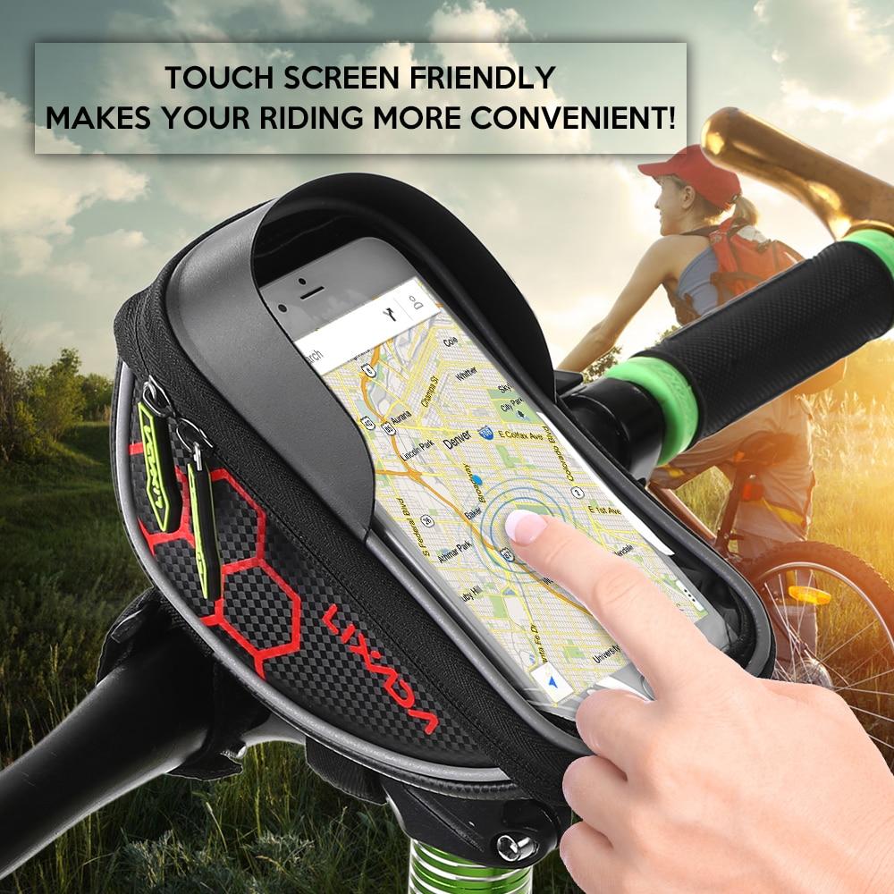 Cycling Bicycle Mobile Phone Bag Case Holder Cycling Bike Head Tube Handlebar