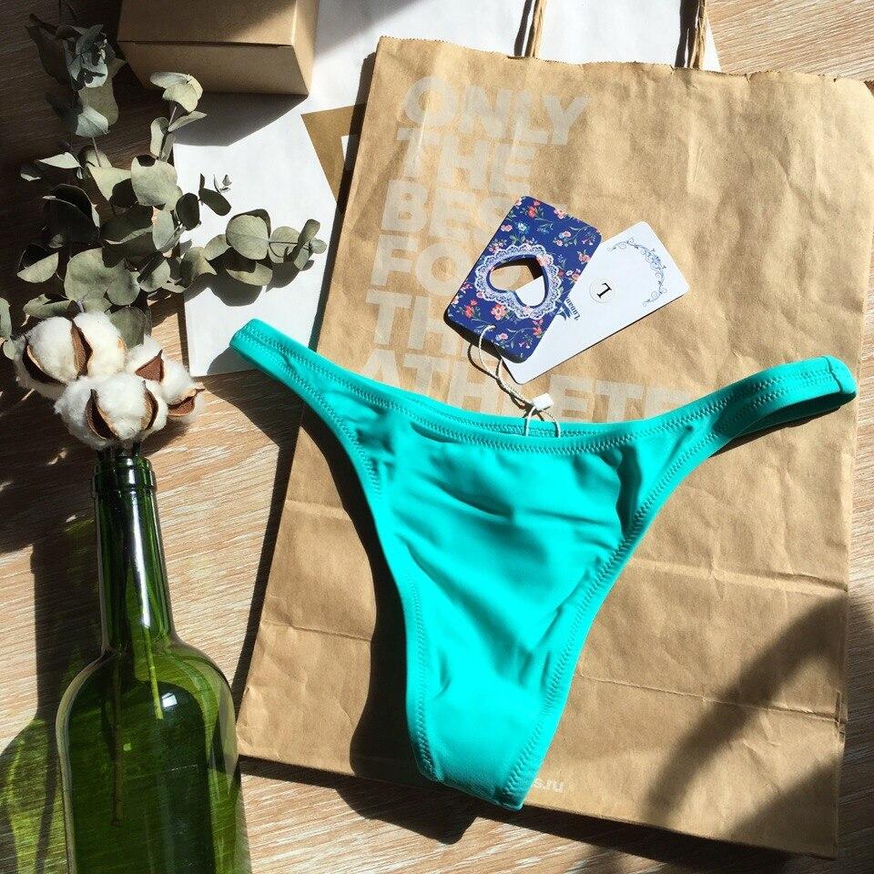 ALI shop ...  ... 32909252353 ... 2 ... Lunamy 2019 Hot Sale Thong Swimwear Women Bikini Bottoms Sexy Solid Color Bikini Tanga Brazilian Swimming Panties 8 Colors Brief ...
