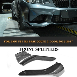 Image 5 - Carbon Fiber Front Bumper Splitters Lip Cupwings Flaps Winglets for BMW 2 Series F87 M2 Base Coupe 2 Door 2016   2018