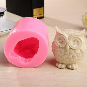 3D Small Animal Owl Shape Hands Silicone Cake Decorating Tools Soap Chocolate Cake Molds Fondant Decoration Baking Tools