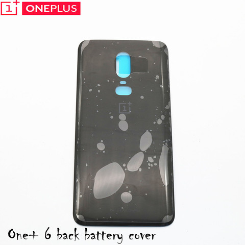 For Oneplus 6 Glass Battery cover Door Smart Phone Back Cover Replacement Repair Part for one plus 6 1+6 6.28 inch Karachi