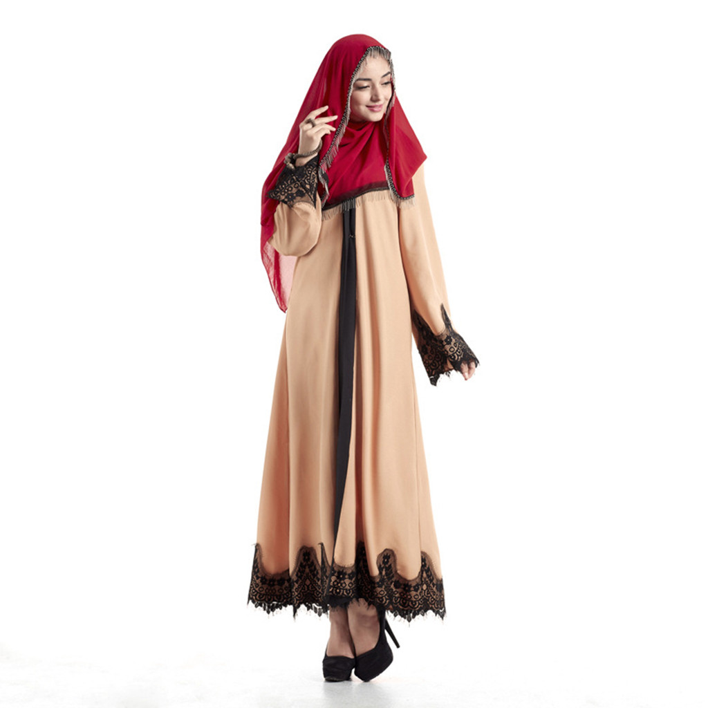 Dubai Dresses Evening Abaya Maxi Dress Muslim Women Islamic Robe Kaftan Moroccan Modest Dress Long Sleeve Cardigan Kaftan 10.30