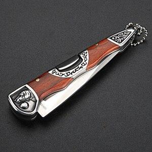 Image 3 - Складной нож высокой твердости, портативный уличный клинок, для кемпинга, охоты, самообороны