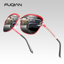FUQIAN Luxury Oversized Polarized Sunglasses Women 2020 Metal Big Ladies Sun Gla