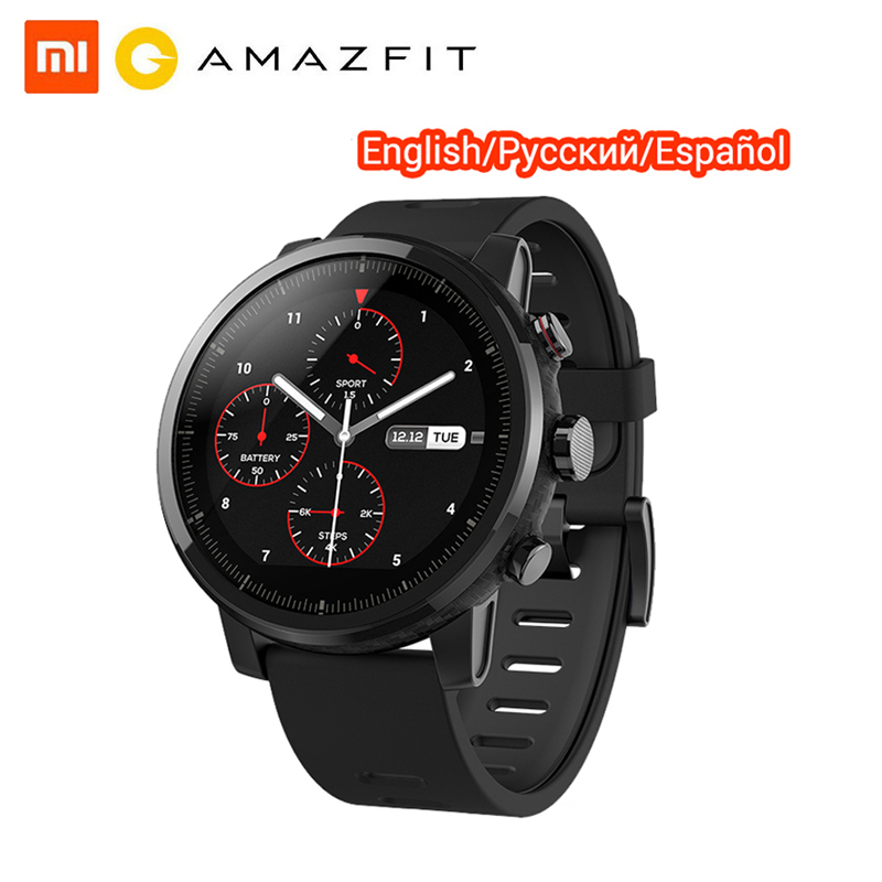 Original Huami Amazfit Stratos 2 Smart Watch GPS Heart Rate Smartwatch 5ATM Waterpoof VO2max Triathlon Strava Smart Watch image