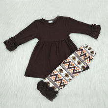 Yawoo Dropshipping Cotton Baby Girl Clothes Outfits Whlolesale Kids Clothing Sets Suit conjunto infantil