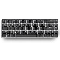 RK855 BT tastiera Dual Mode retroilluminazione bianca 68 tasti Mini tastiera meccanica per Gamer telefono/Tablet nero con interruttore Gateron blu