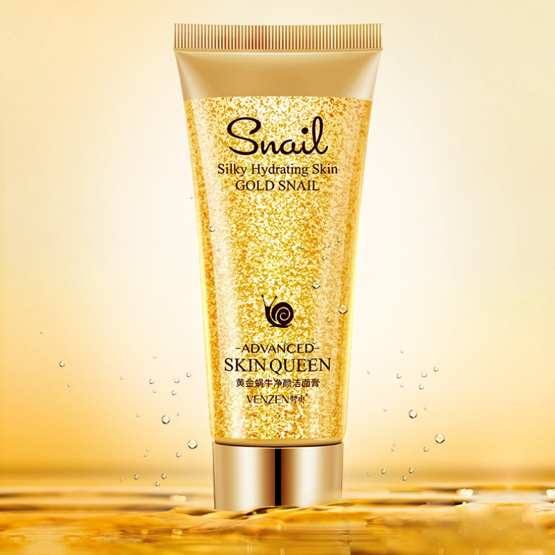 Gold Snail Facial Cleanser Moisturizing Cleaning Pores Remove Blackheads Control Oil Face Washing Product For Sensitive Skin image