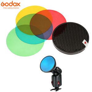 Image 4 - Godox AD S11 Color Gels Filter Honeycomb Grid +AD S2 Standard Reflector Soft Diffuser for Witstro AD 360 II AD360II AD180 AD200