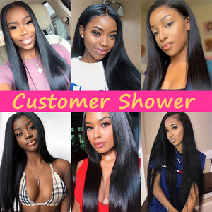 Image 5 - Bling Hair 8 30 Inch Straight Hair Bundles With Closure 13*4 Lace Frontal Malaysian Remy Human Hair Weave Bundles With Closure