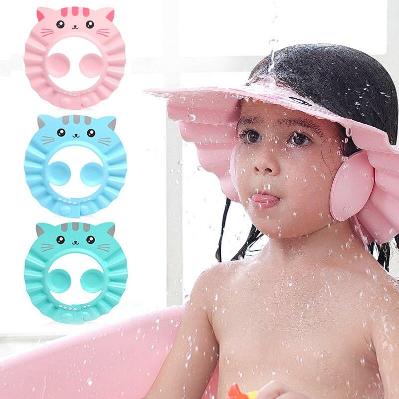 Baby Dusche Kappe Einstellbar Haar Waschen Hut für Neugeborene Kind Ohr Schutz Sicher Kinder Kinder Shampoo Schild Bad Kopf Abdeckung