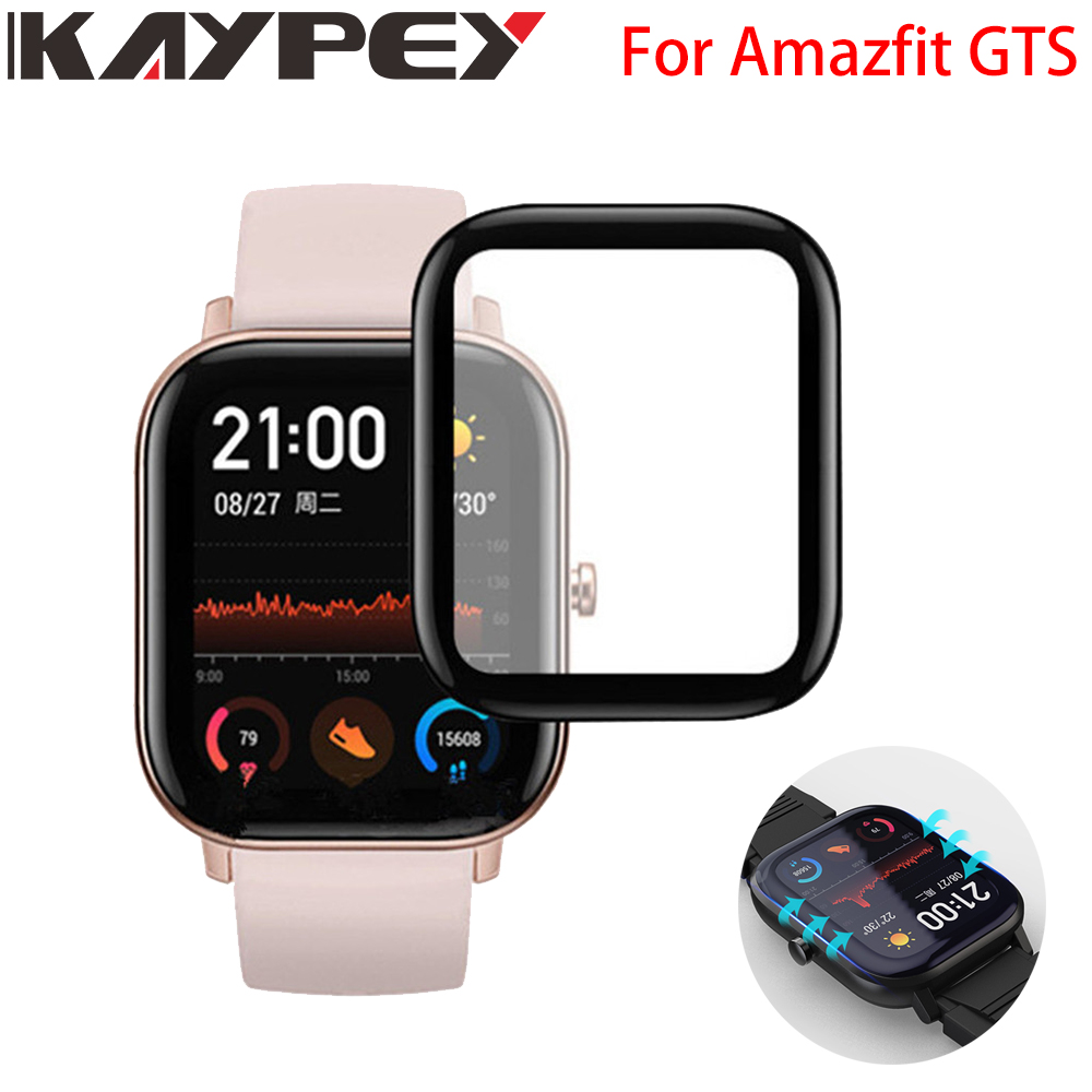 3D Curved Edge Full Coverage Soft Clear Protective Film Cover For Xiaomi Amazfit GTS Smart Watch LCD Screen Protector Guard