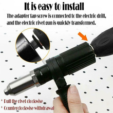Rivet Nut Gun-Adaptor Insert-Tool Drill Nail-Gun Electric