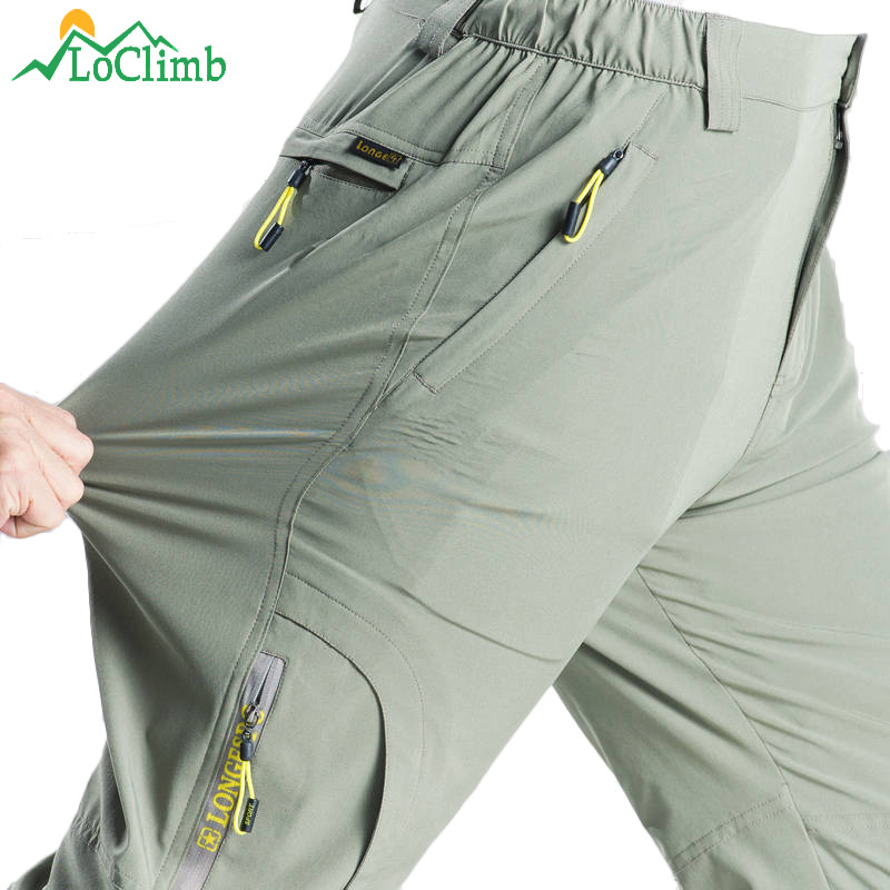 Stretch Hiking Pants Men Summer Quick Dry Trousers Mens Mountain Climbing Outdoor Pants Male Travel/Fishing/Trekking Pants AM381