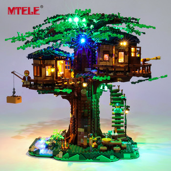 MTELE Brand LED Light Up Kit For Ideas Series Tree House Toys Lighting Set Compatile With 21318