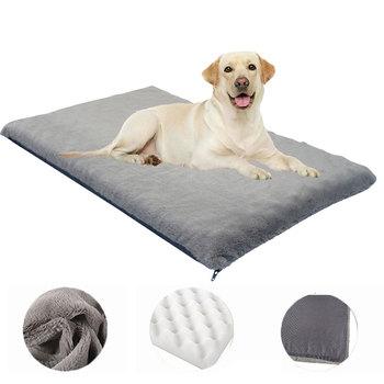 Duży pies mata na łóżko ortopedyczna pianka zachowująca kształt psia buda zdejmowana zmywalna luksusowa sofa dla psa dla małych średnich duże zwierzę domowe tanie i dobre opinie CN (pochodzenie) Pranie ręczne wodoodporne Stałe maty na łóżko Skóra M 0 2kg L 1 1kg XL 1 35kg Dog cat Orthopedic Foam