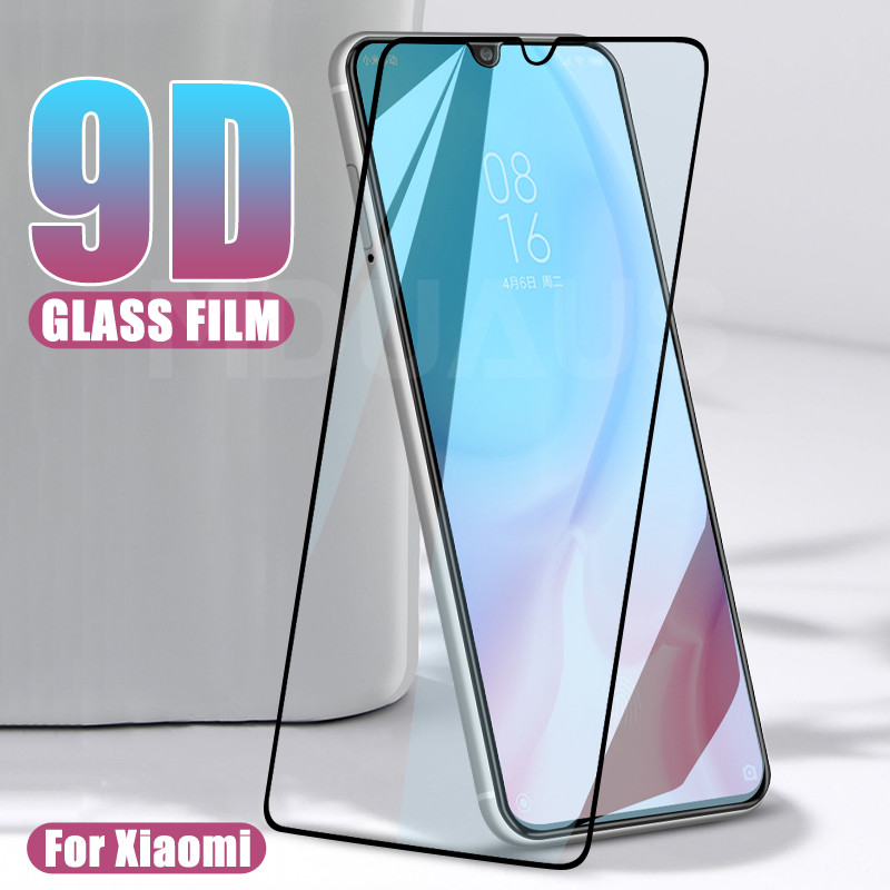 9D Protective <font><b>Glass</b></font> on the For <font><b>Xiaomi</b></font> Mi 9 8 SE 9T Pro CC9 CC9E <font><b>A3</b></font> A2 Lite Play F1 Tempered Screen Protector <font><b>Glass</b></font> Film Case image