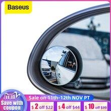 Baseus 2 قطعة سيارة 360 درجة HD العمياء مرآة محدبة السيارات مرآة الرؤية الخلفية زاوية واسعة للسيارات وقوف السيارات بدون شفة مرايا
