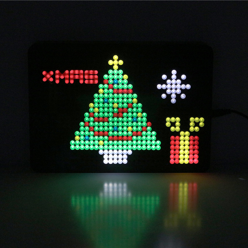 2019 Creative DIY Shining Light Nailboard Light Boxes Battery LED Colorful Letter A4/A5 Light Box Christmas Gift