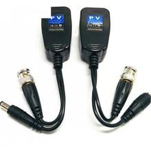 5 pares de cctv coaxial bnc vídeo power balun transceptor para cat5e 6 rj45 conector