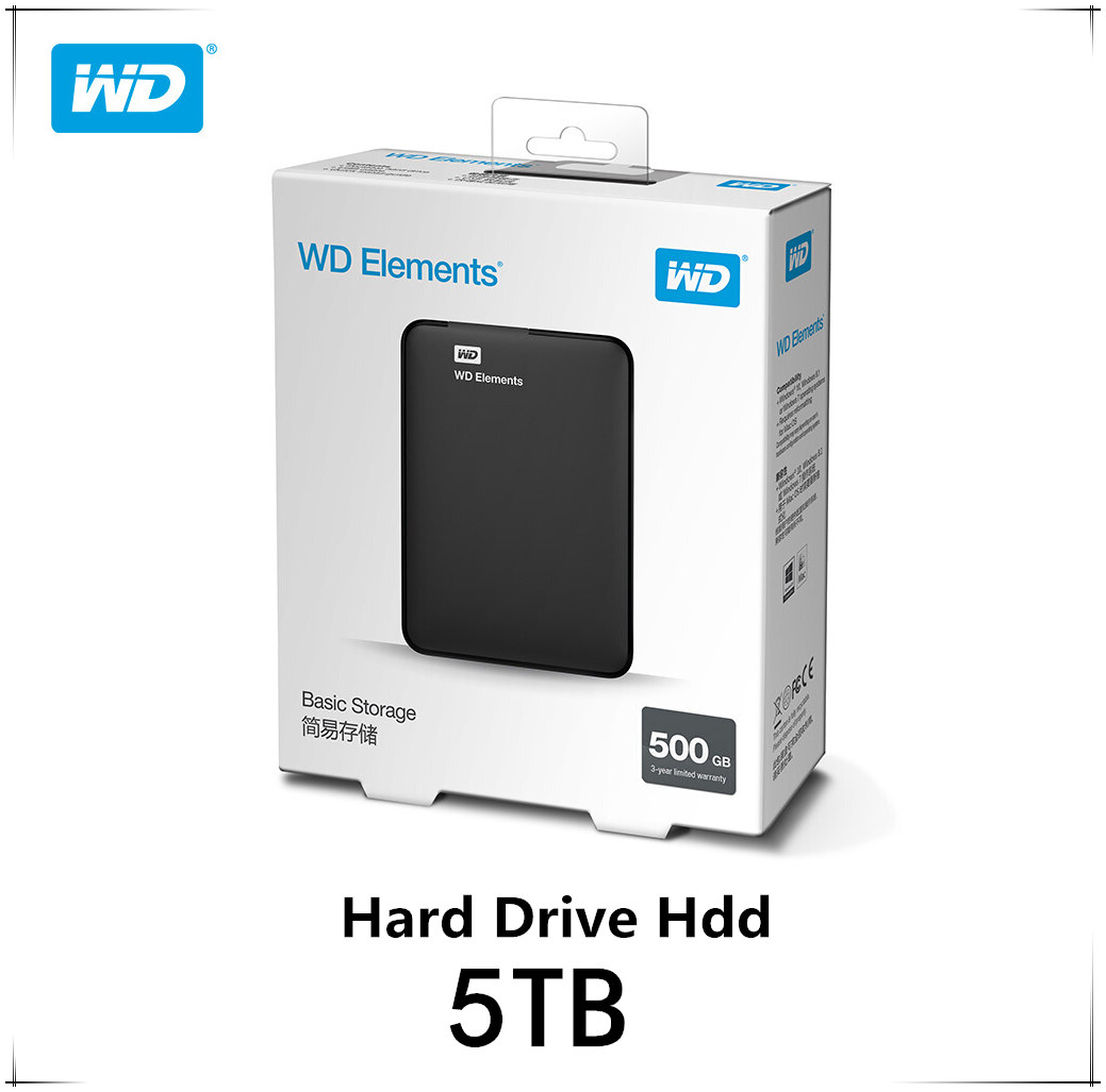 Original!!! 5TB Western Digital WD Elements Hard Drive Hard Disk HDD 2.5