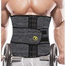 NINGMI 슬리밍 속옷 남성용 허리 트레이너 바디 셰이퍼 Shapewear Gridle 네오프렌 사우나 남성 모델링 벨트 체중 감소 스트랩