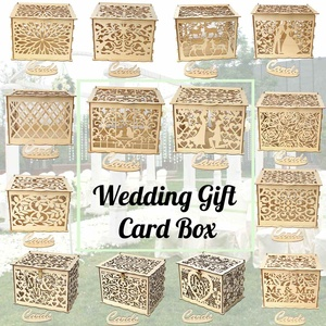 14 Types DIY Wedding Gift Card Box Woode