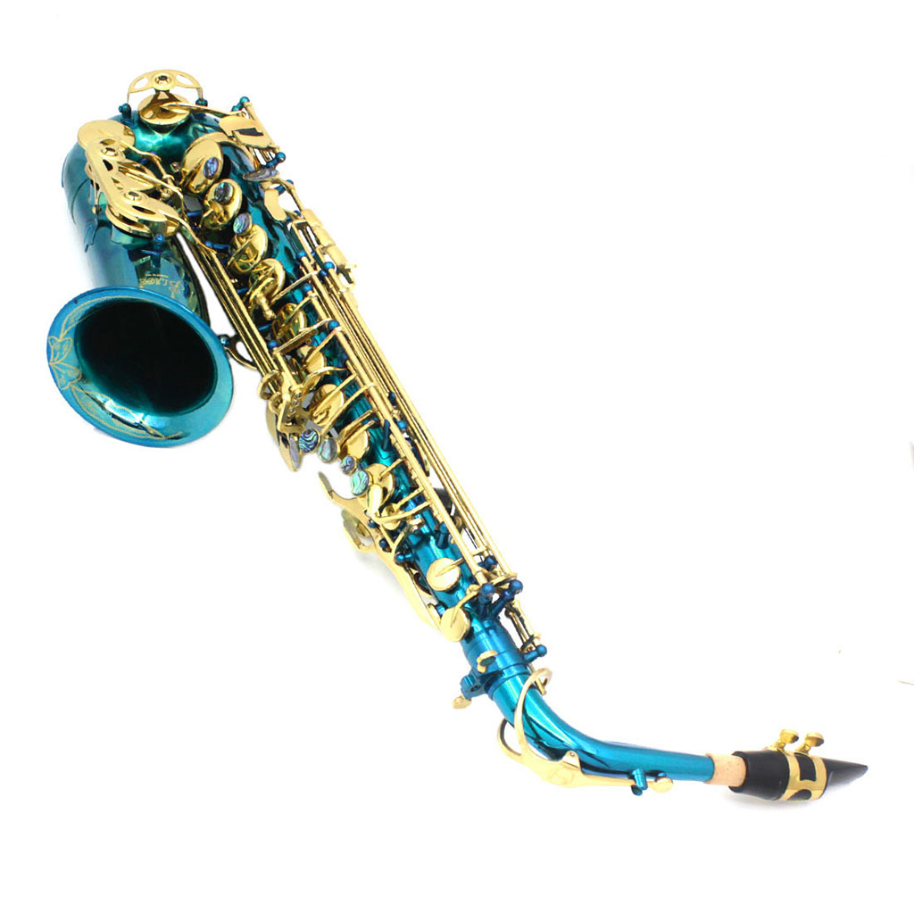 Exquisite Messing Eb Alto Saxophon Sax mit Lagerung Fall Mundstück Straps Handschuhe Reinigung Tuch - 3