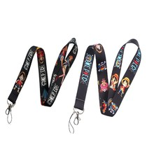 ONE PIECE Anime Lanyard Keychain Lanyards For Keys Badge ID Mobile Phone Rope Neck Straps Accessories Gifts(China)